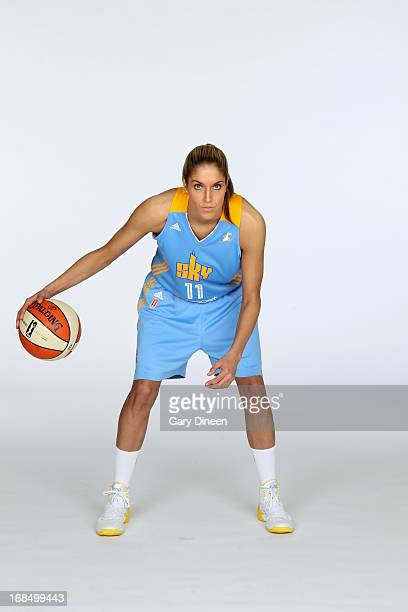 Elena Delle Donne of the Chicago Sky poses during the 2013 Chicago Sky Media Day on May 09 2013 at the Sachs Recreation Center in Deerfield Illinois...