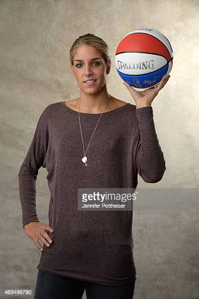 Elena Delle Donne of the Chicago Sky poses for portraits during the NBAE Circuit as part of 2015 AllStar Weekend at the Sheraton Times Square Hotel...