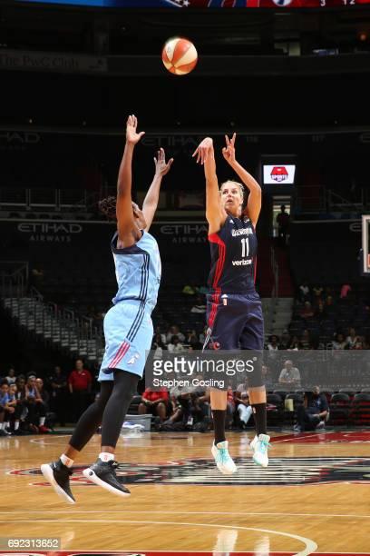 Elena Delle Donne of the Washington Mystics shoots the ball against the Atlanta Dream on June 4 2017 at Verizon Center in Washington DC NOTE TO USER...