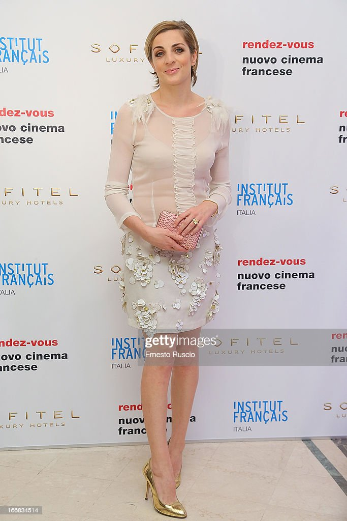 Elena Di Cioccio attends the Rendez-Vous Film Festival opening night at Hotel Sofitel on April 17, 2013 in Rome, Italy.