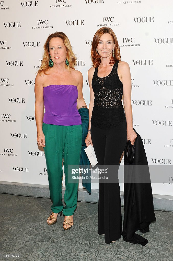 Elena Enni (L) and Silvia Urso Falck attend Vogue and IWC present 'Peter Lindbergh's Portofino' at 10 Corso Como on May 12, 2011 in Milan, Italy.