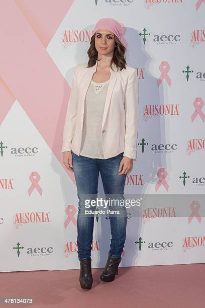 Elena Furiase attends 'Ausonia And AECC Against Breast Cancer' campaign presentation photocall at Petite Palace hotel on March 12 2014 in Madrid Spain