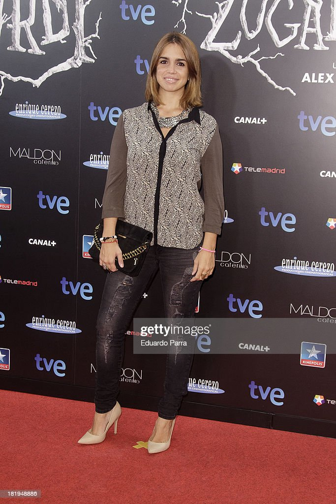 Elena Furiase attends 'Las brujas de Zugarramurdi' premiere photocall at Kinepolis Cinema on September 26, 2013 in Madrid, Spain.