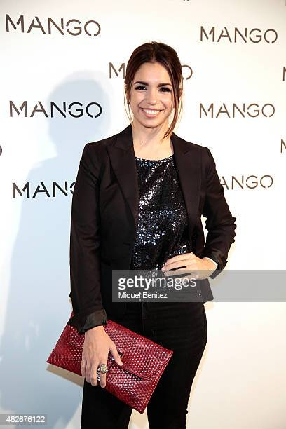 Elena Furiase attends the Mango fashion show photocall during the last Mango's collection at the '080 Barcelona Fashion Week 2015 Fall/Winter' on...