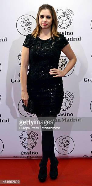 Elena Furiase attends the opening of 'Casino Gran MadridColon' on January 9 2014 in Madrid Spain