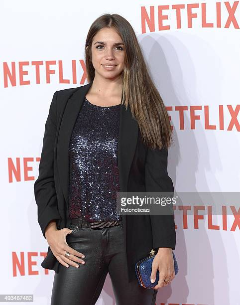 Elena Furiase attends the red carpet of Netflix presentation at the Matadero Cultural Center on October 20 2015 in Madrid Spain