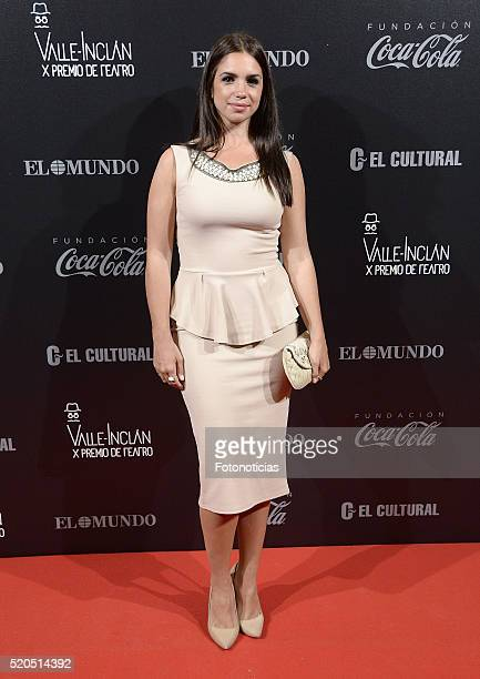Elena Furiase attends the ValleInclan Theatre Awards at the Teatro Real on April 11 2016 in Madrid Spain
