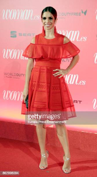 Elena Furiase attends the 'Woman 25th anniversary' photocall at Madrid Casino on October 18 2017 in Madrid Spain