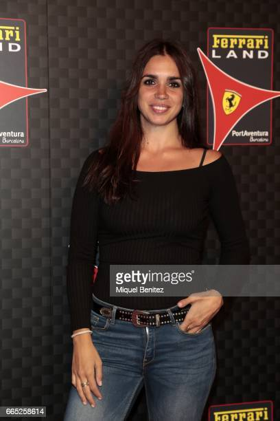 Elena Furiase Gonzalez attends the new Ferrari Land at Port Aventura World on April 6 2017 in Tarragona Spain