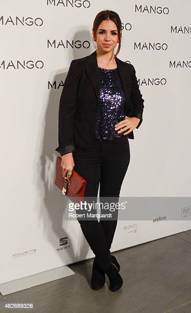 Elena Furiase poses during a photocall for the Mango fashion show at '080 Barcelona Fashion Week 2015 Fall/Winter collection' on February 2 2015 in...