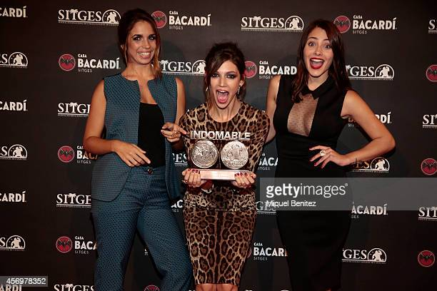 Elena Furiase Ursula Corbero and Andrea Duro attend a photocall for the 'Bacardi Sitges' Awards 2014 held at the Casa Barcardi during the '47th...