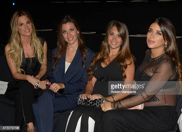 Elena Galera Nuria Cunillera Antonella Roccuzzo and Daniella Semann attend the Rosa Clara fashion show at Barcelona Bridal week 2015 on May 5 2015 in...