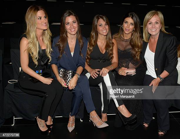 Elena Galera Nuria Cunillera Antonella Roccuzzo Daniella Semann and Rosa Clara attend the Rosa Clara fashion show at Barcelona Bridal week 2015 on...