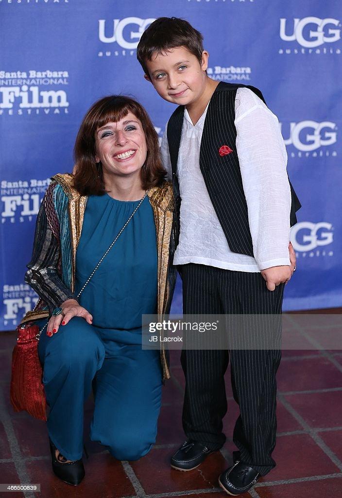 Elena Hazanov and Sacha Hazanov attend the presentation of the Outstanding Performer Award at the 29th Santa Barbara International Film Festival held at Arlington Theatre on February 1, 2014 in Santa Barbara, California.