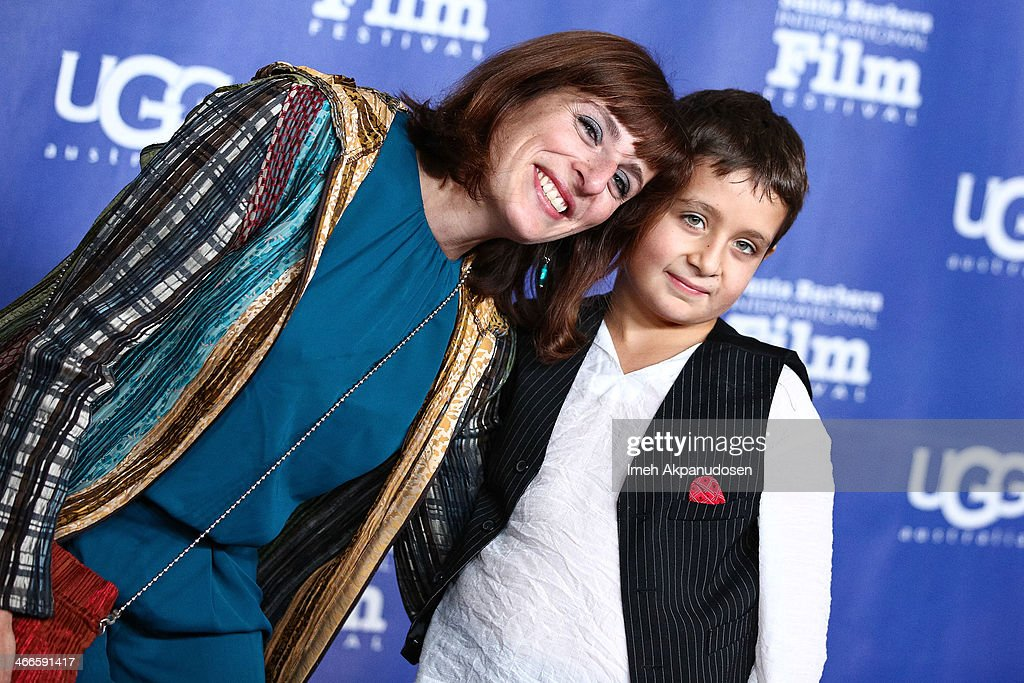 Elena Hazanov and Sacha Hazanov attend the presentation of the Outstanding Performer Of The Year Award at the Arlington Theatre during the 29th Santa Barbara International Film Festival on February 1, 2014 in Santa Barbara, California.