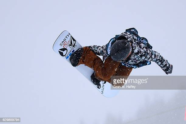 Elena Hight competes in the qualifying round for the 2017 US Snowboarding Grand Prix at Copper Mountain on December 14 2016 in Copper Mountain...