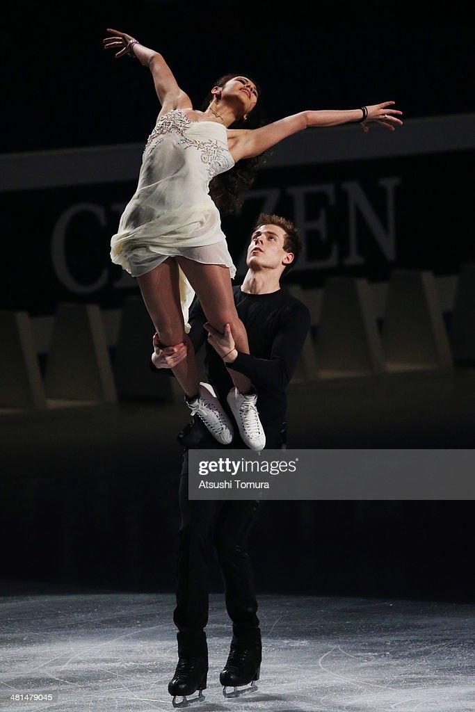 <a gi-track='captionPersonalityLinkClicked' href=/galleries/search?phrase=Elena+Ilinykh&family=editorial&specificpeople=7281567 ng-click='$event.stopPropagation()'>Elena Ilinykh</a> and <a gi-track='captionPersonalityLinkClicked' href=/galleries/search?phrase=Nikita+Katsalapov&family=editorial&specificpeople=7281568 ng-click='$event.stopPropagation()'>Nikita Katsalapov</a> of Russia perform their routine in the exhibition during ISU World Figure Skating Championships at Saitama Super Arena on March 30, 2014 in Saitama, Japan.