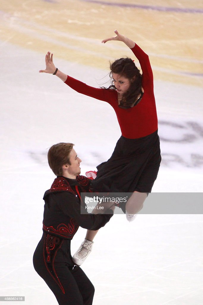 <a gi-track='captionPersonalityLinkClicked' href=/galleries/search?phrase=Elena+Ilinykh&family=editorial&specificpeople=7281567 ng-click='$event.stopPropagation()'>Elena Ilinykh</a> and Rusian Zhiganshin of Russia compete the ice dance short dance during the Lexus Cup of China 2014 on November 7, 2014 in Shanghai, China.