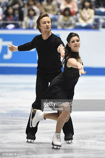 Elena Ilinykh and Ruslan Zhiganshin of Russia compete in the Ice Dance free dance during the day two of the ISU World Team Trophy at Yoyogi National...