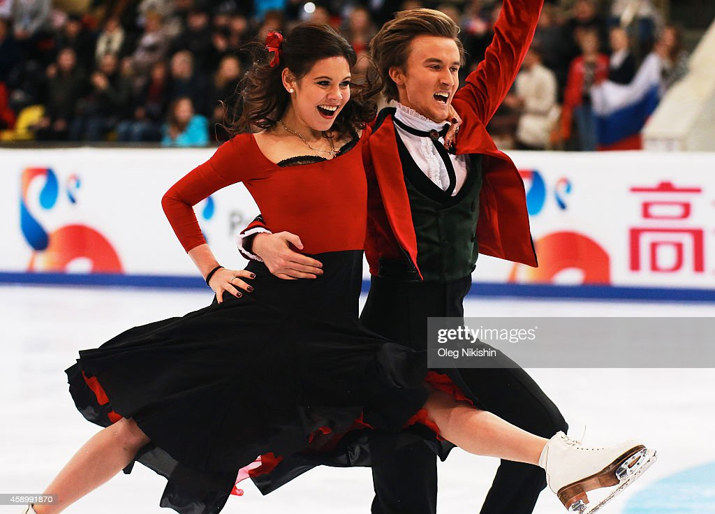 <a gi-track='captionPersonalityLinkClicked' href=/galleries/search?phrase=Elena+Ilinykh&family=editorial&specificpeople=7281567 ng-click='$event.stopPropagation()'>Elena Ilinykh</a> and Ruslan Zhiganshin of Russia skate in the Ice Dance Free Dance during ISU Rostelecom Cup of Figure Skating 2014 on November 14, 2014 in Moscow, Russia.