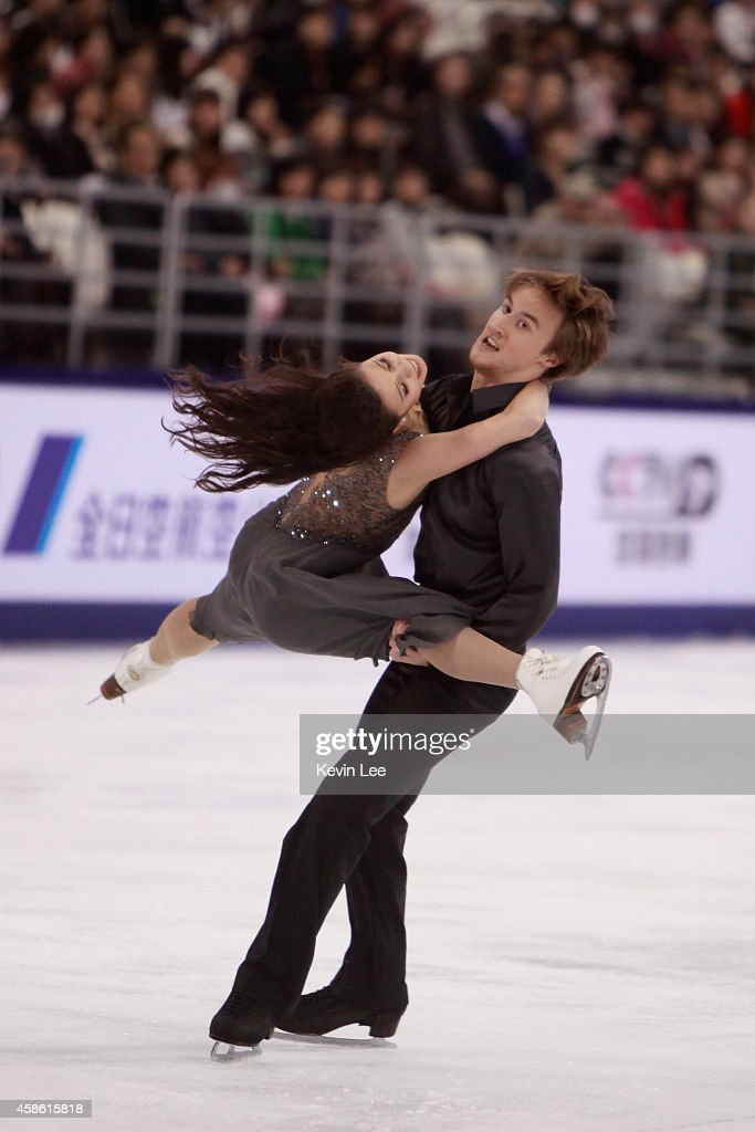 <a gi-track='captionPersonalityLinkClicked' href=/galleries/search?phrase=Elena+Ilinykh&family=editorial&specificpeople=7281567 ng-click='$event.stopPropagation()'>Elena Ilinykh</a> and Ruslan Zhiganshin of Russia skates in Ice Dance Free Dance during the Lexus Cup of China 2014 on November 8, 2014 in Shanghai, China.
