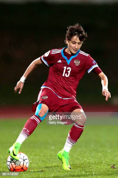 Elena Kostareva of Russia during the Algarve Cup Tournament Match between Sweden W and Russia W on March 8 2017 in Albufeira Portugal