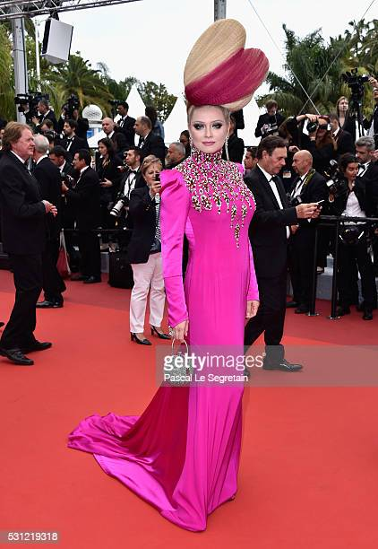 Elena Lenskaya attends the 'Slack Bay ' premiere during the 69th annual Cannes Film Festival at the Palais des Festivals on May 13 2016 in Cannes...