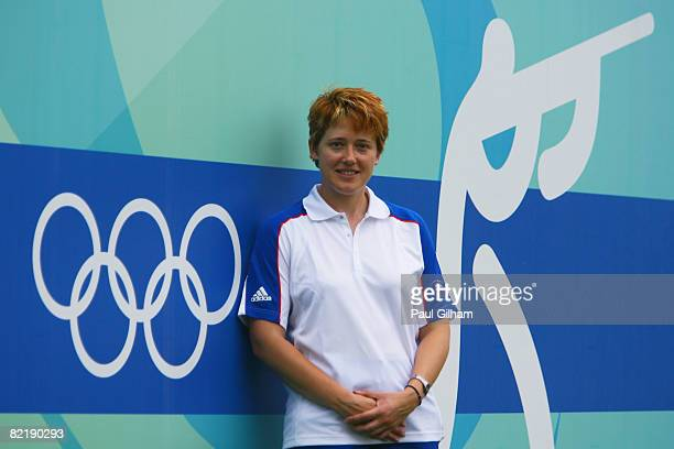 Elena Little of Great Britain who will compete in the Womens Skeet event poses for a photograph ahead of the Beijing 2008 Olympics at the Beijing...