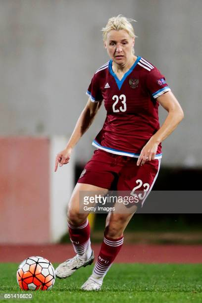 Elena Morozova of Russia during the Algarve Cup Tournament Match between Sweden W and Russia W on March 8 2017 in Albufeira Portugal