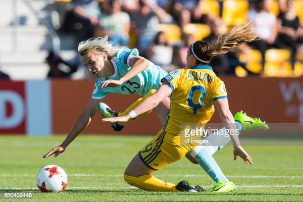 Elena Morozova of Russia women Kosovare Asllani of Sweden women during the UEFA WEURO 2017 Group B group stage match between Sweden and Russia at The...