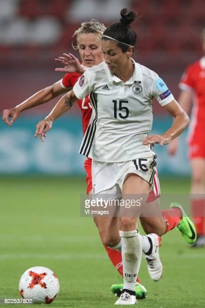 Elena Morozova of Russia women Sara DoorsounKhajeh of Germany women during the UEFA WEURO 2017 Group B group stage match between Russia and Germany...