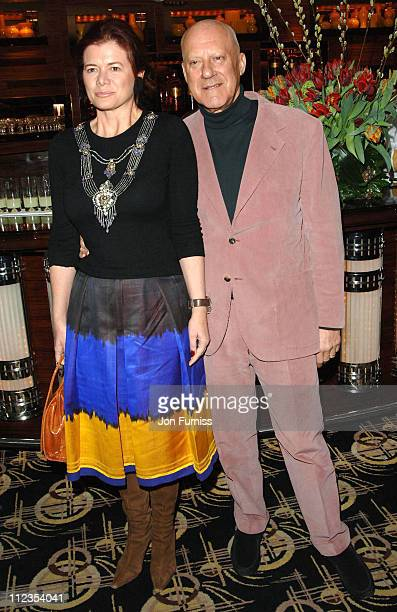 Elena Ochoa and Norman Foster during 'The White Countess' London Premiere After Party at Dorchester Hotel in London Great Britain