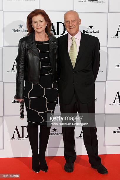 Elena Ochoa Foster and Norman Foster attend AD Awards 2013 at Casino de Madrid on February 19 2013 in Madrid Spain