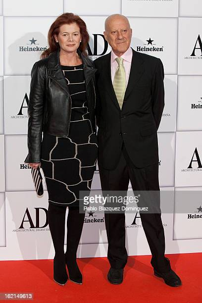 Elena Ochoa Foster and Norman Foster attend AD Awards 2013 at Casino de Madrid on February 19 2013 in Madrid Spain