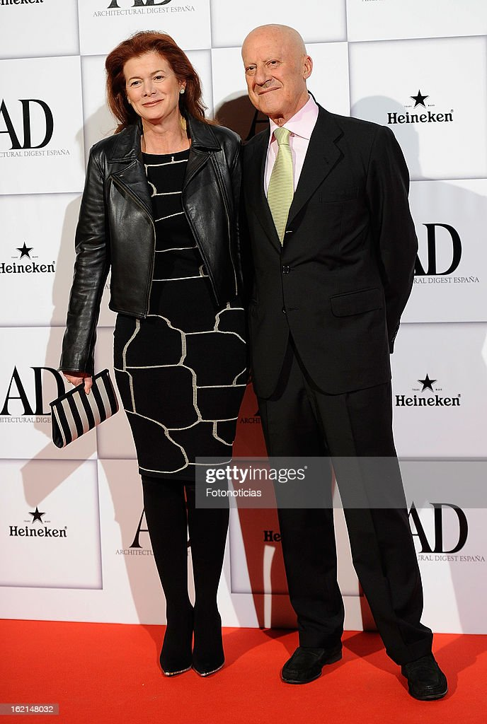 Elena Ochoa Foster (L) and Norman Foster attend AD Awards 2013 at the Casino de Madrid on February 19, 2013 in Madrid, Spain.