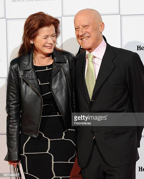 Elena Ochoa Foster and Norman Foster attend AD Awards 2013 at the Casino de Madrid on February 19 2013 in Madrid Spain