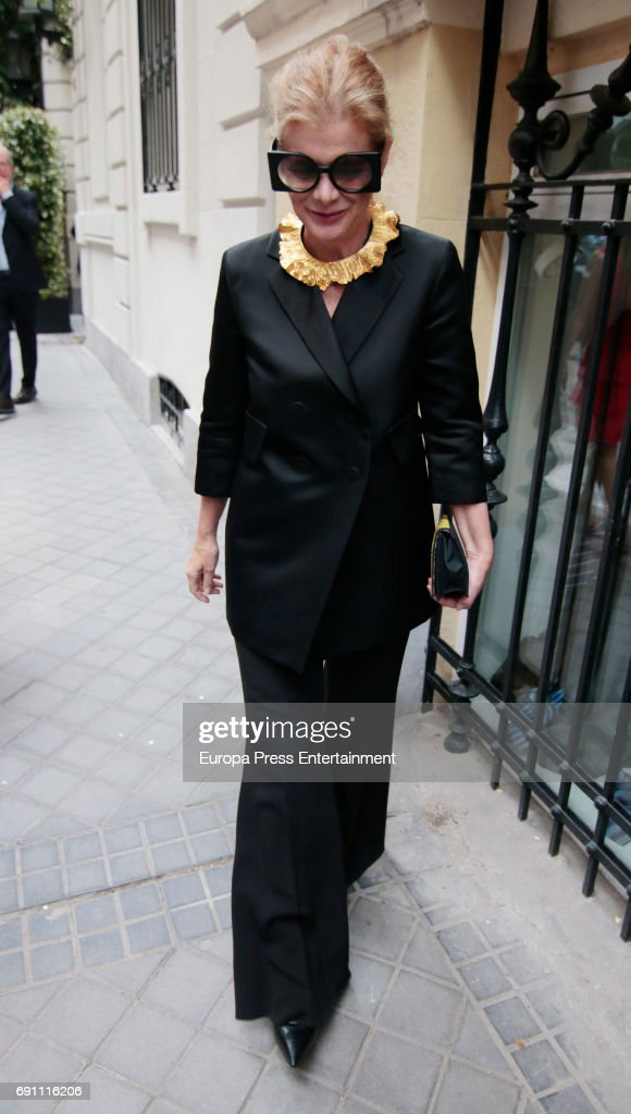 elena ochoa foster attends the private party for the opening of norman foster foundation on may