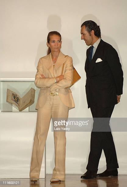 Elena of Spain and husband Jaime de Marichalar during Elena of Spain and husband Jaime de Marichalar Preside over the Exhibition to Commemorate the...