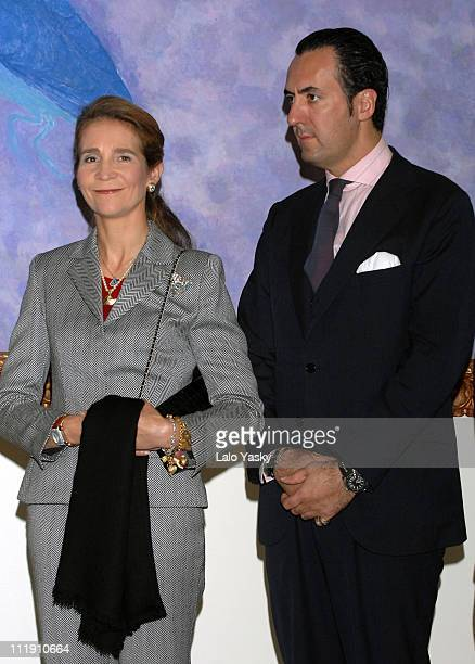 Elena of Spain and Jaime de Marichalar during Elena of Spain Presides Exhibition Opening at Queen Sofia Museum at Queen Sofia Museum in Madrid Madrid...