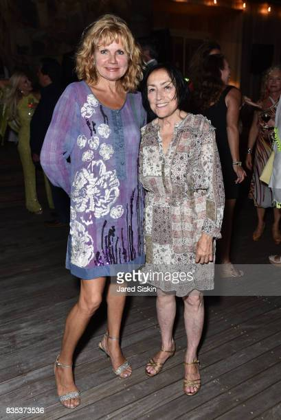 Elena Oleinik and Zoya Kuznetsova attend ARTrageous Gala Art Auction benefitting Hour Children at a Private Residence on August 18 2017 in...