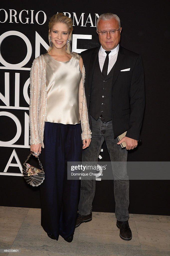 Giorgio Armani Prive: Front Row - Paris Fashion Week - Haute Couture S/S 2014