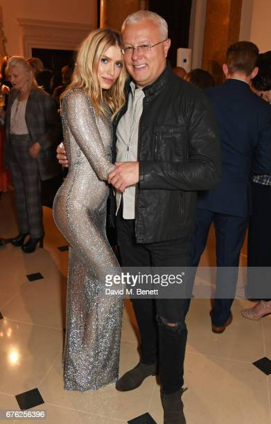 Elena Perminova and Alexander Lebedev attend the Harper's Bazaar 150th Anniversary Party at William Kent House at The Ritz on May 2 2017 in London...