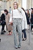 Elena Perminova arrives at Chloe Fashion Show during Paris Fashion Week Fall Winter 2015/2016 on March 8 2015 in Paris France