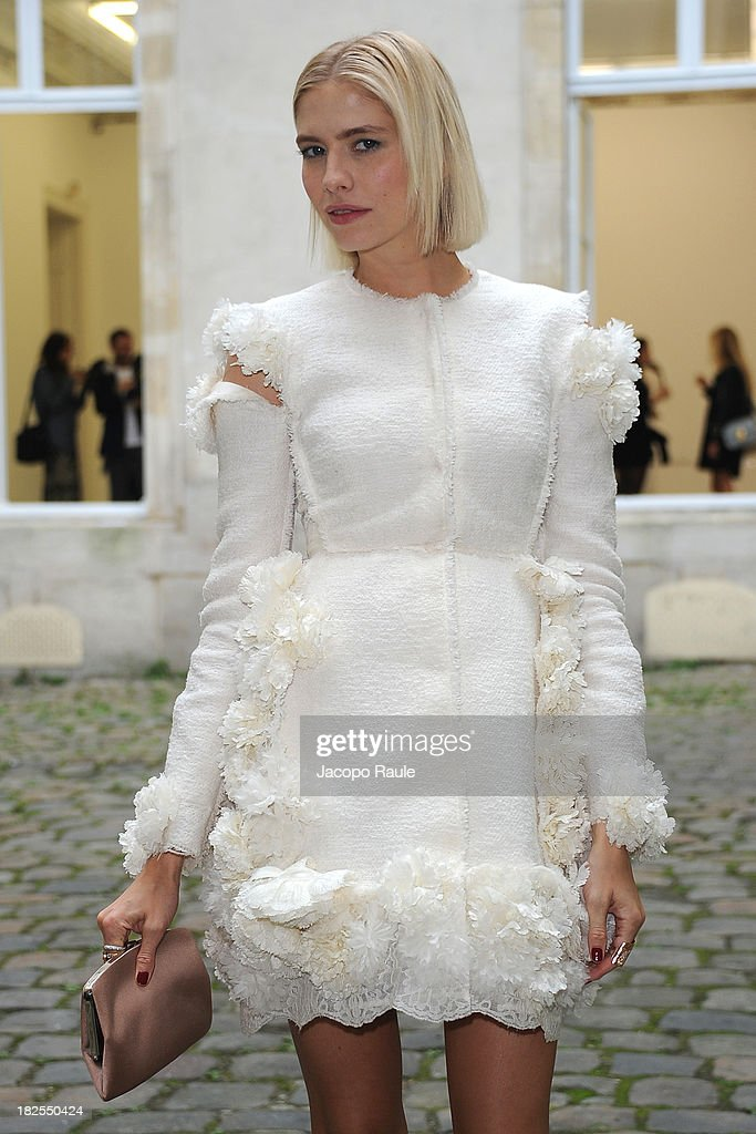 <a gi-track='captionPersonalityLinkClicked' href=/galleries/search?phrase=Elena+Perminova&family=editorial&specificpeople=6479553 ng-click='$event.stopPropagation()'>Elena Perminova</a> arrives at Delfina Delettrez Presents Jewelry Collection during Paris Fashion Week Womenswear SS14 - Day 7 on September 30, 2013 in Paris, France.