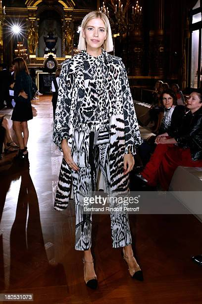 Elena Perminova attends Stella McCartney show as part of the Paris Fashion Week Womenswear Spring/Summer 2014 held at Opera Garnier on September 30...
