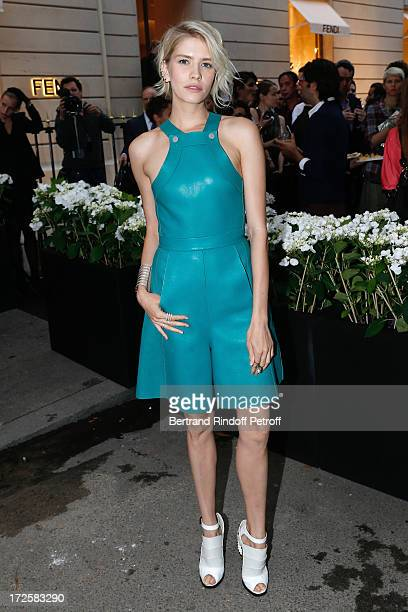 Elena Perminova attends the Avenue Montaigne Fendi new shop opening party which will be followeed by 'The Glory Of Water' Karl Lagerfeld's Exhibition...