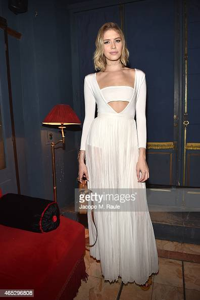 Elena Perminova attends the Balmain Aftershow Dinner as part of the Paris Fashion Week Womenswear Fall/Winter 2015/2016 on March 5 2015 in Paris...
