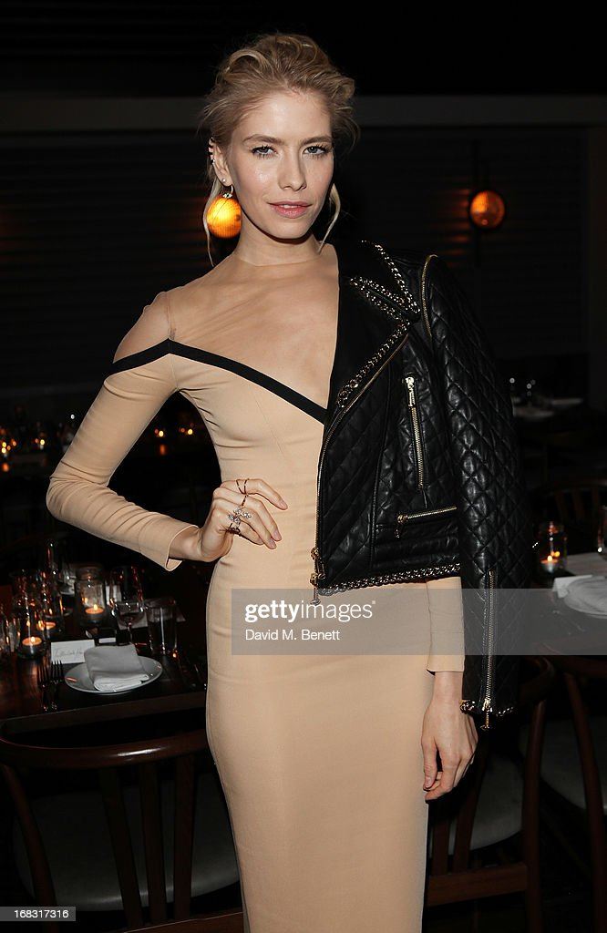 Elena Perminova attends the BLK DNM Dinner with Johan Lindeberg and Kim Sion at Beagle Restaurant on May 8, 2013 in London, England.