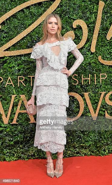 Elena Perminova attends the British Fashion Awards 2015 at London Coliseum on November 23 2015 in London England