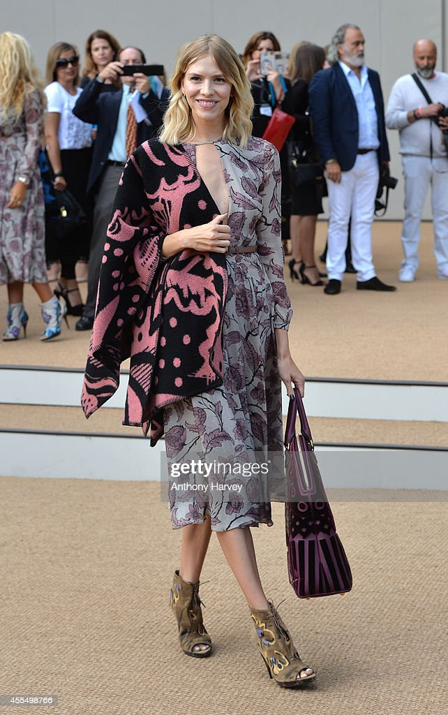 Elena Perminova attends the Burberry Prorsum show during London Fashion Week Spring Summer 2015 on September 15 2014 in London England
